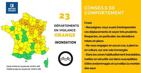 Inondations départements français
