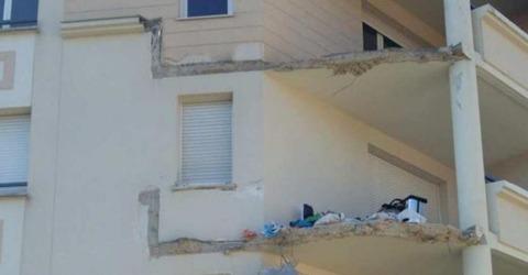 Effondrement balcon