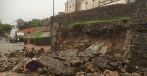 Inondation fissures