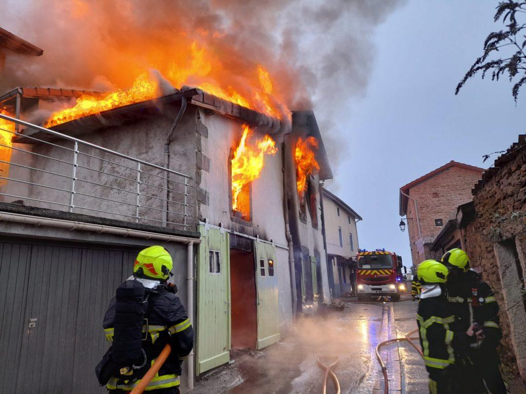 Incendie maison Loire